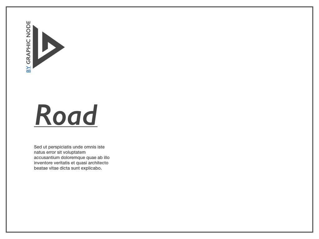 Road Keynote Presentation Template, Slide 12, 04890, Business Models — PoweredTemplate.com