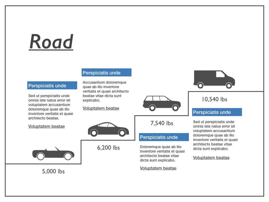 Road Keynote Presentation Template, Slide 13, 04890, Business Models — PoweredTemplate.com
