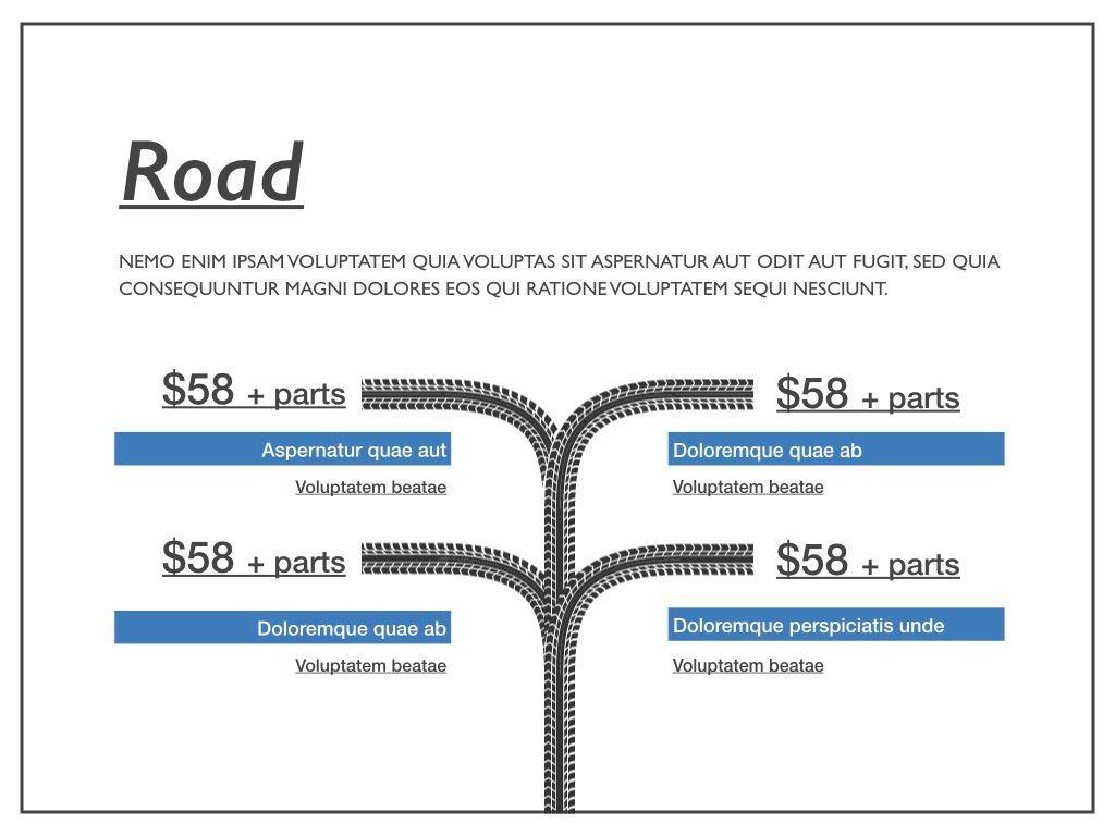 Road Keynote Presentation Template, Slide 14, 04890, Business Models — PoweredTemplate.com
