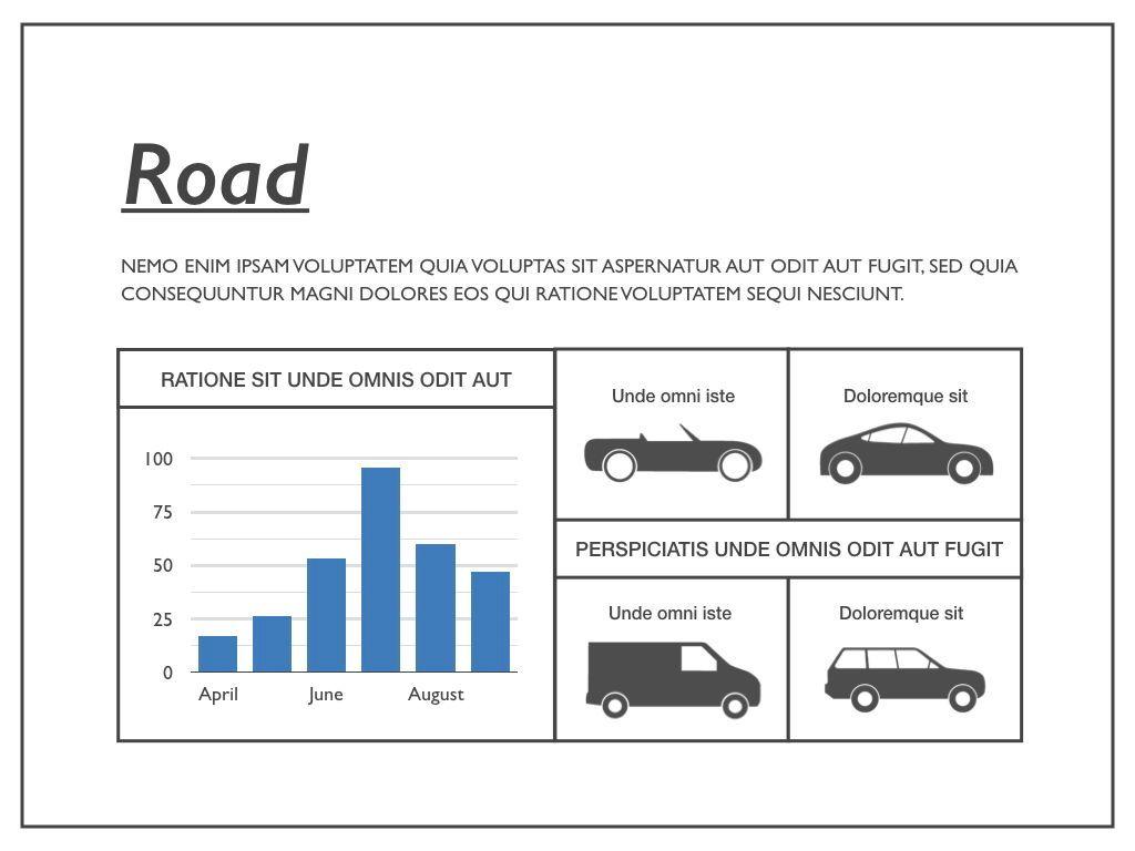 Road Keynote Presentation Template, Slide 16, 04890, Business Models — PoweredTemplate.com