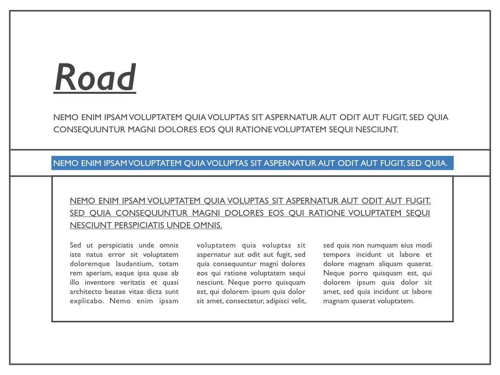 Road Keynote Presentation Template, Slide 2, 04890, Business Models — PoweredTemplate.com