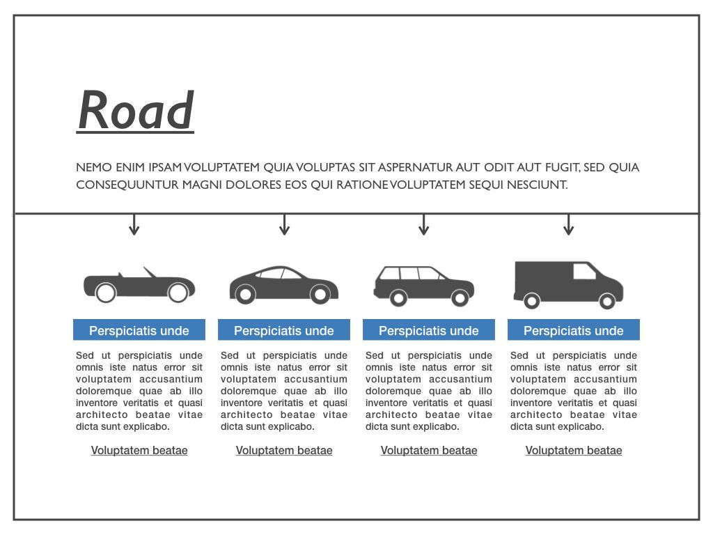 Road Keynote Presentation Template, Slide 21, 04890, Business Models — PoweredTemplate.com