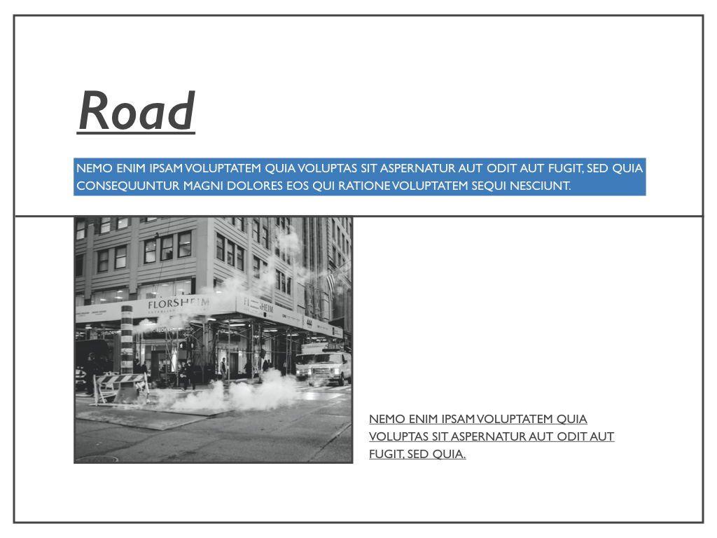 Road Keynote Presentation Template, Slide 22, 04890, Business Models — PoweredTemplate.com