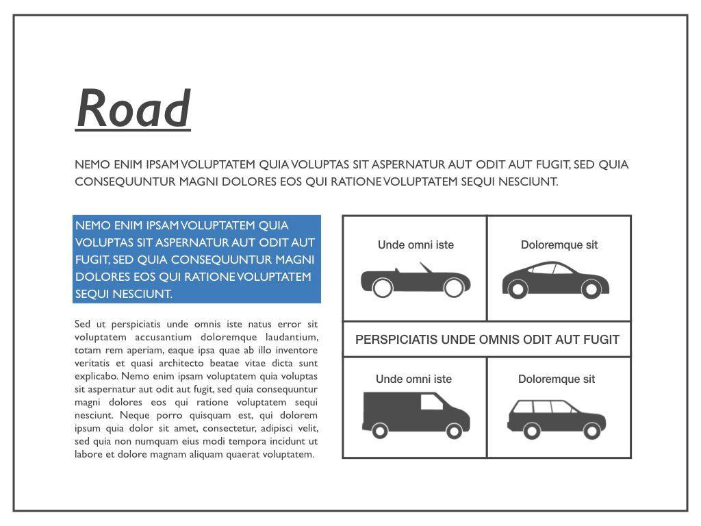 Road Keynote Presentation Template, Slide 23, 04890, Business Models — PoweredTemplate.com