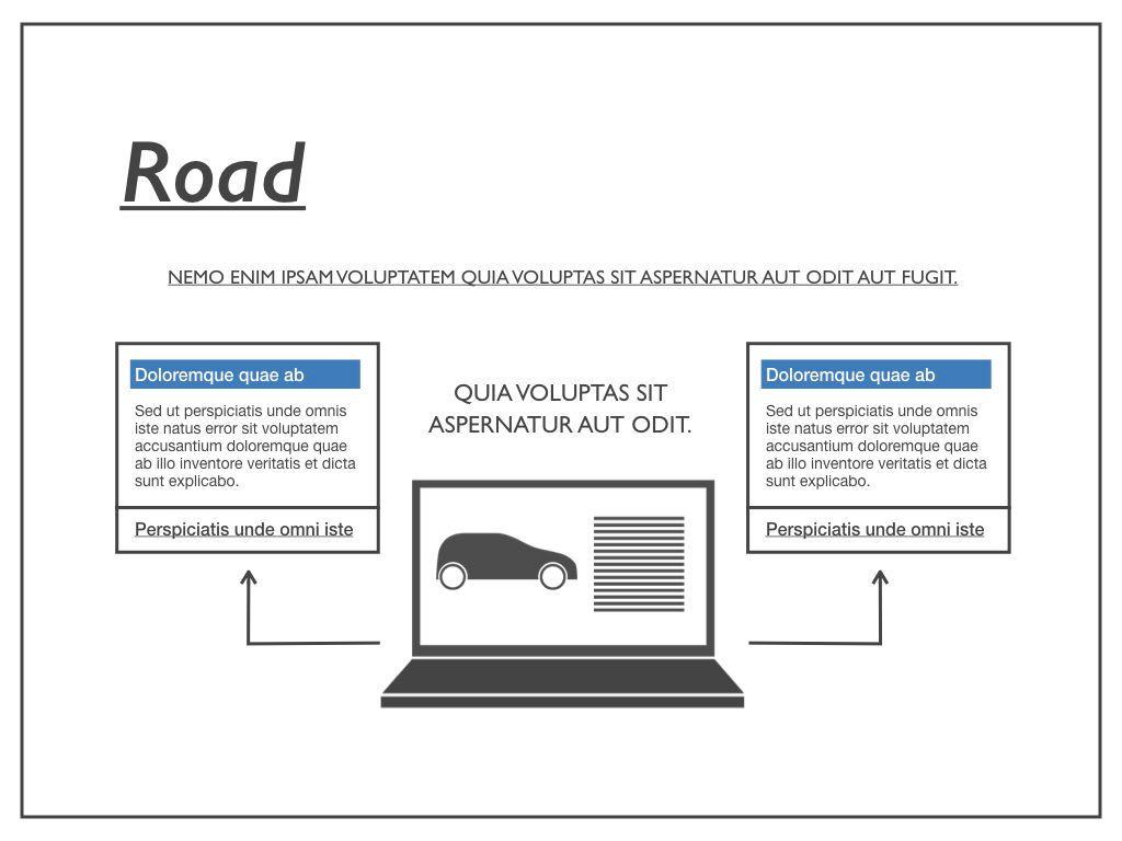 Road Keynote Presentation Template, Slide 24, 04890, Business Models — PoweredTemplate.com