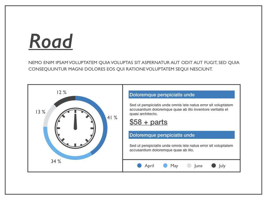 Road Keynote Presentation Template, Slide 34, 04890, Business Models — PoweredTemplate.com