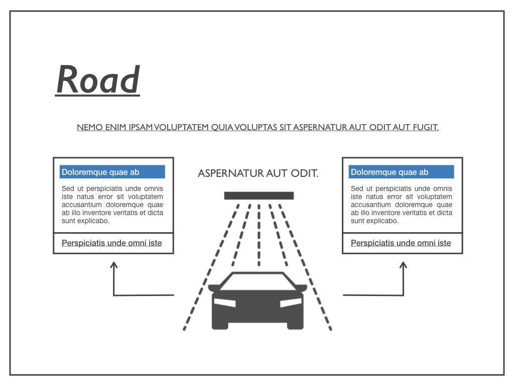 Road Keynote Presentation Template, Slide 35, 04890, Business Models — PoweredTemplate.com