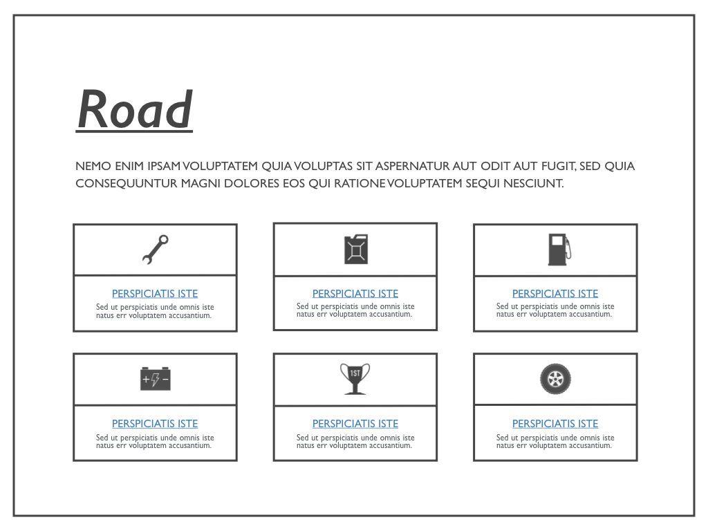 Road Keynote Presentation Template, Slide 38, 04890, Business Models — PoweredTemplate.com
