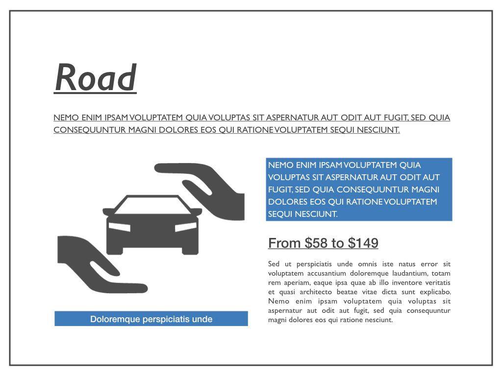 Road Keynote Presentation Template, Slide 4, 04890, Business Models — PoweredTemplate.com