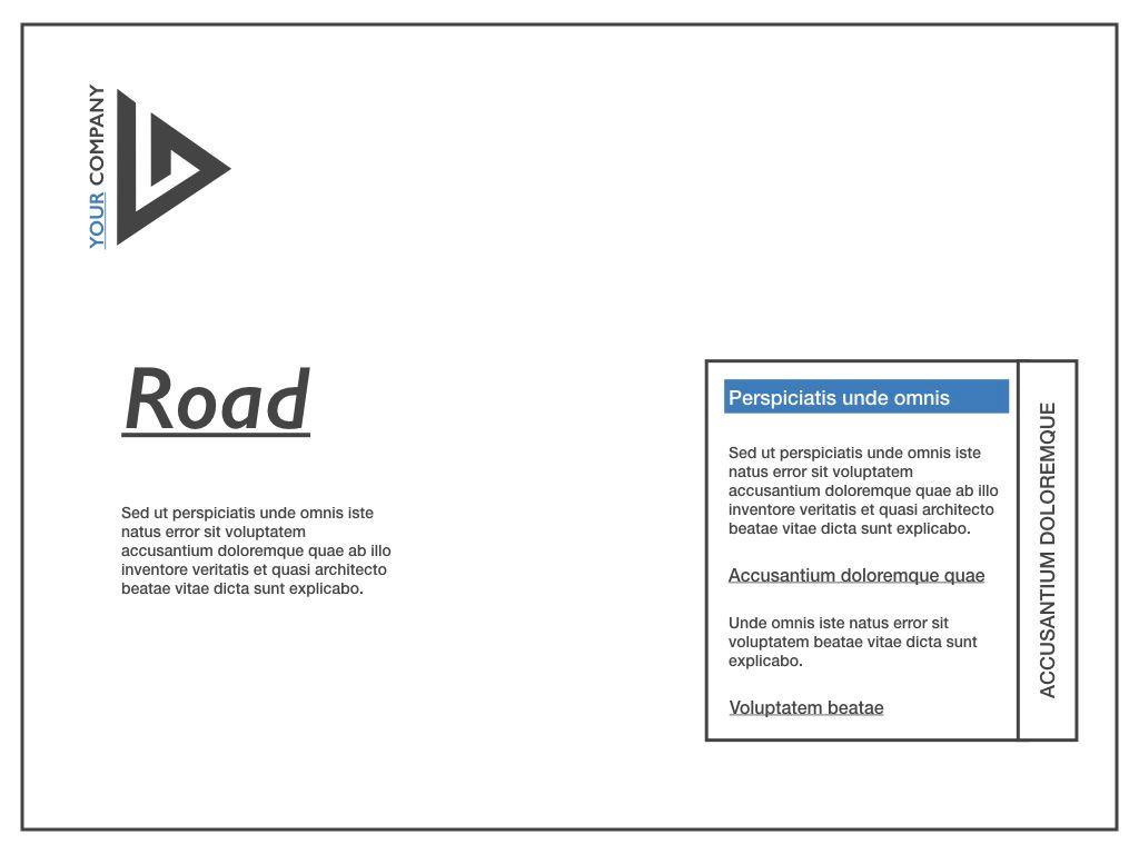 Road Keynote Presentation Template, Slide 7, 04890, Business Models — PoweredTemplate.com