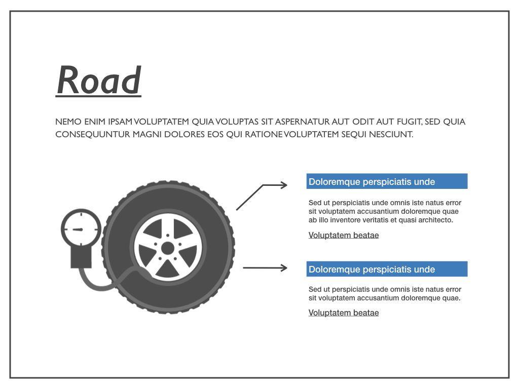 Road Keynote Presentation Template, Slide 8, 04890, Business Models — PoweredTemplate.com
