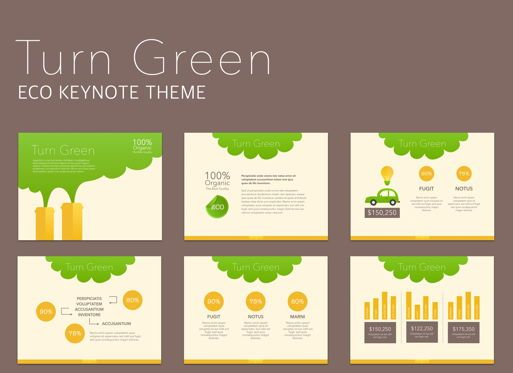Business Models: Turn Green Keynote Presentation Template #04892