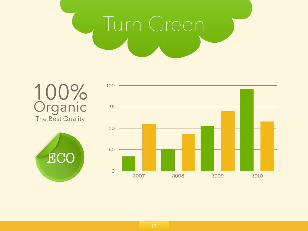 Turn Green Keynote Presentation Template, Slide 10, 04892, Business Models — PoweredTemplate.com