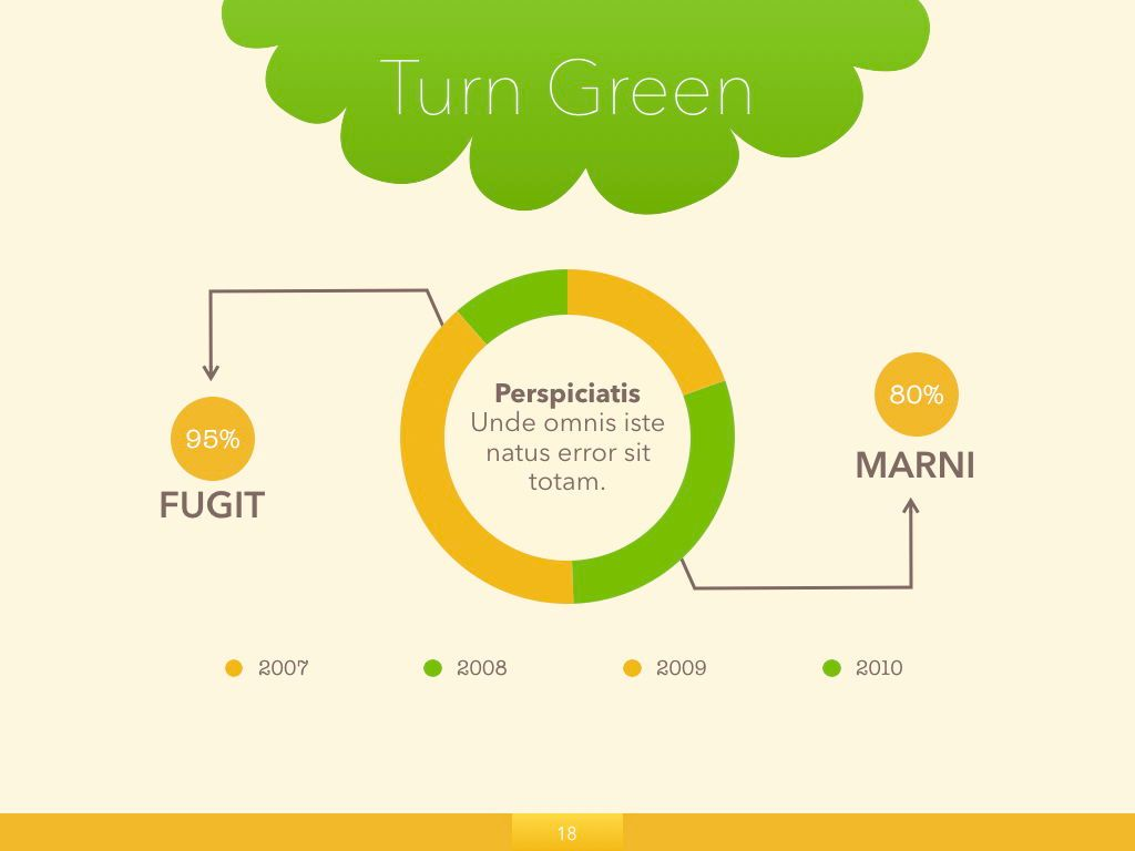 Turn Green Keynote Presentation Template, Slide 11, 04892, Business Models — PoweredTemplate.com