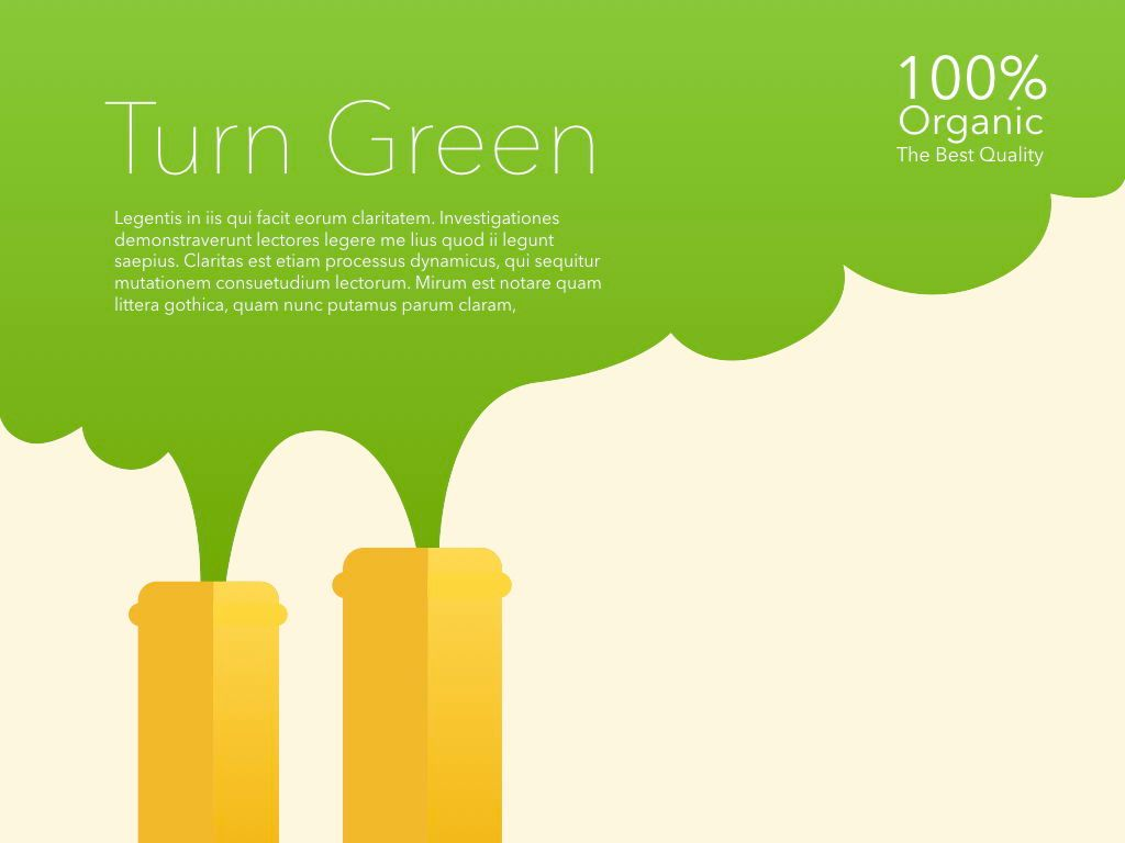 Turn Green Keynote Presentation Template, Slide 12, 04892, Business Models — PoweredTemplate.com
