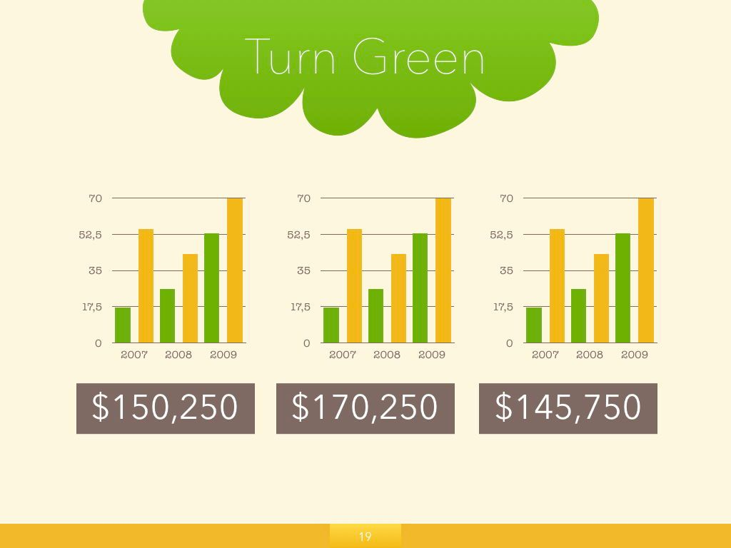Turn Green Keynote Presentation Template, Slide 13, 04892, Business Models — PoweredTemplate.com