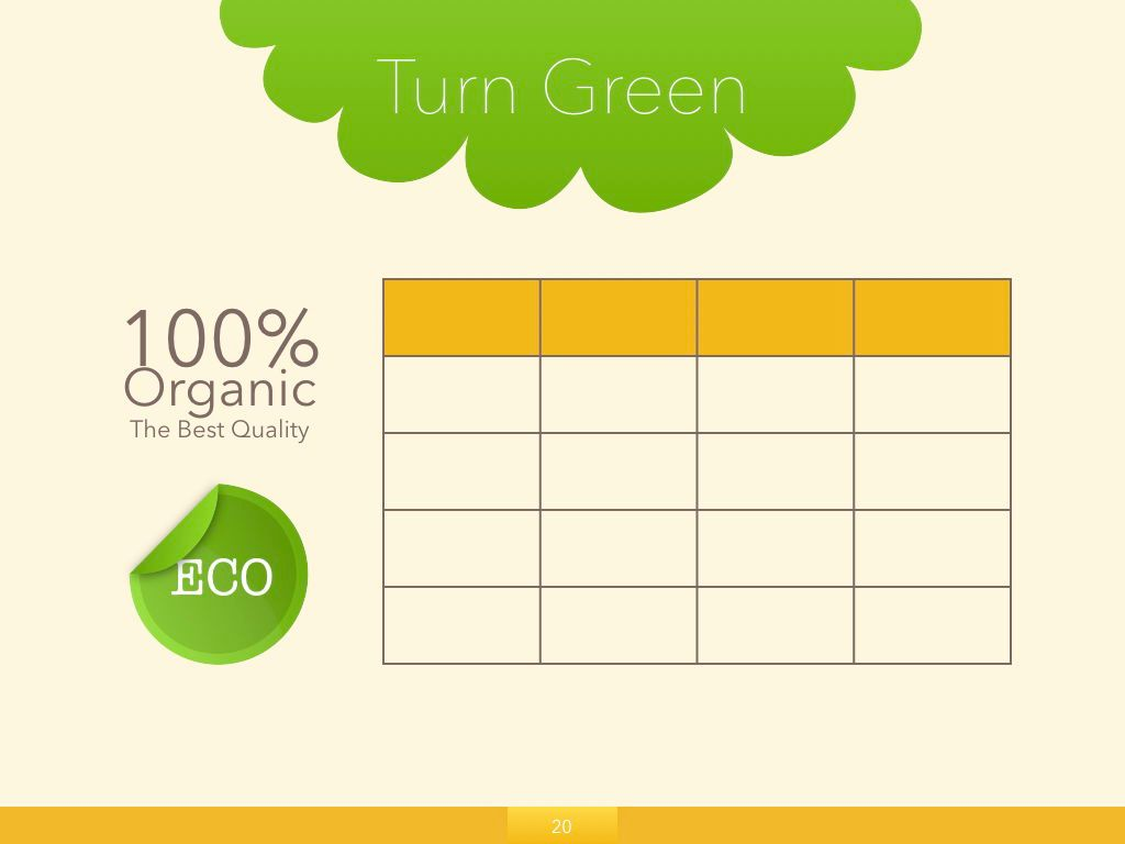 Turn Green Keynote Presentation Template, Slide 14, 04892, Business Models — PoweredTemplate.com