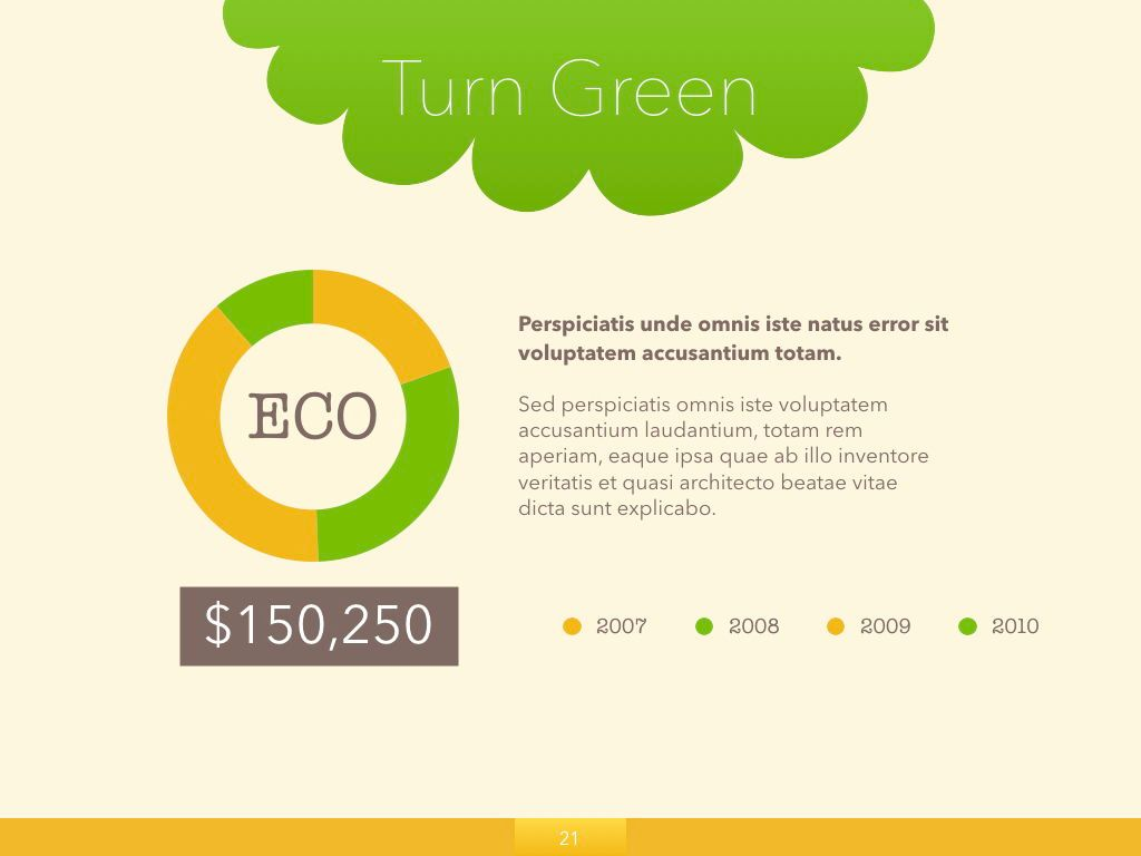 Turn Green Keynote Presentation Template, Slide 15, 04892, Business Models — PoweredTemplate.com