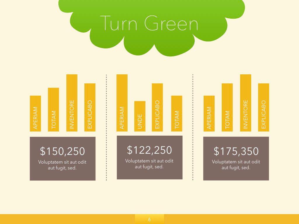 Turn Green Keynote Presentation Template, Slide 22, 04892, Business Models — PoweredTemplate.com