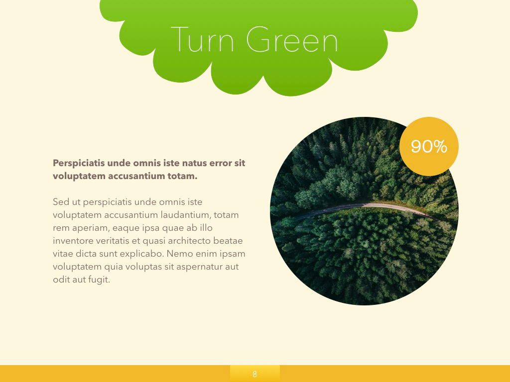 Turn Green Keynote Presentation Template, Slide 24, 04892, Business Models — PoweredTemplate.com