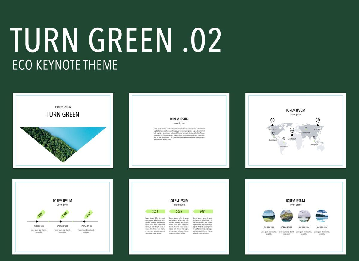 Turn Green 02 Keynote Presentation Template, 04893, Business Models — PoweredTemplate.com