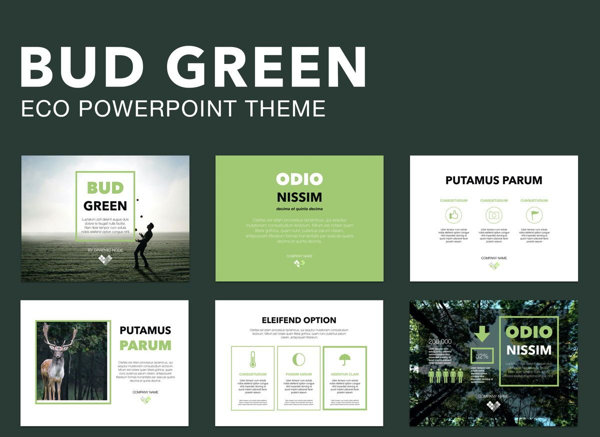 Bud Green Powerpoint Presentation Template, 04896, Business Models — PoweredTemplate.com