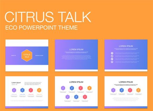 Business Models: Citrus Talk 02 Powerpoint Presentation Template #04897