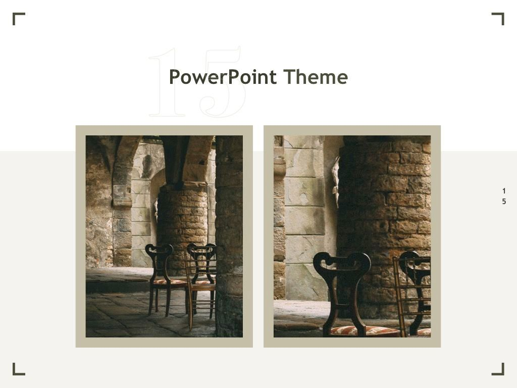 Exhibit PowerPoint Template, Slide 16, 04898, Presentation Templates — PoweredTemplate.com