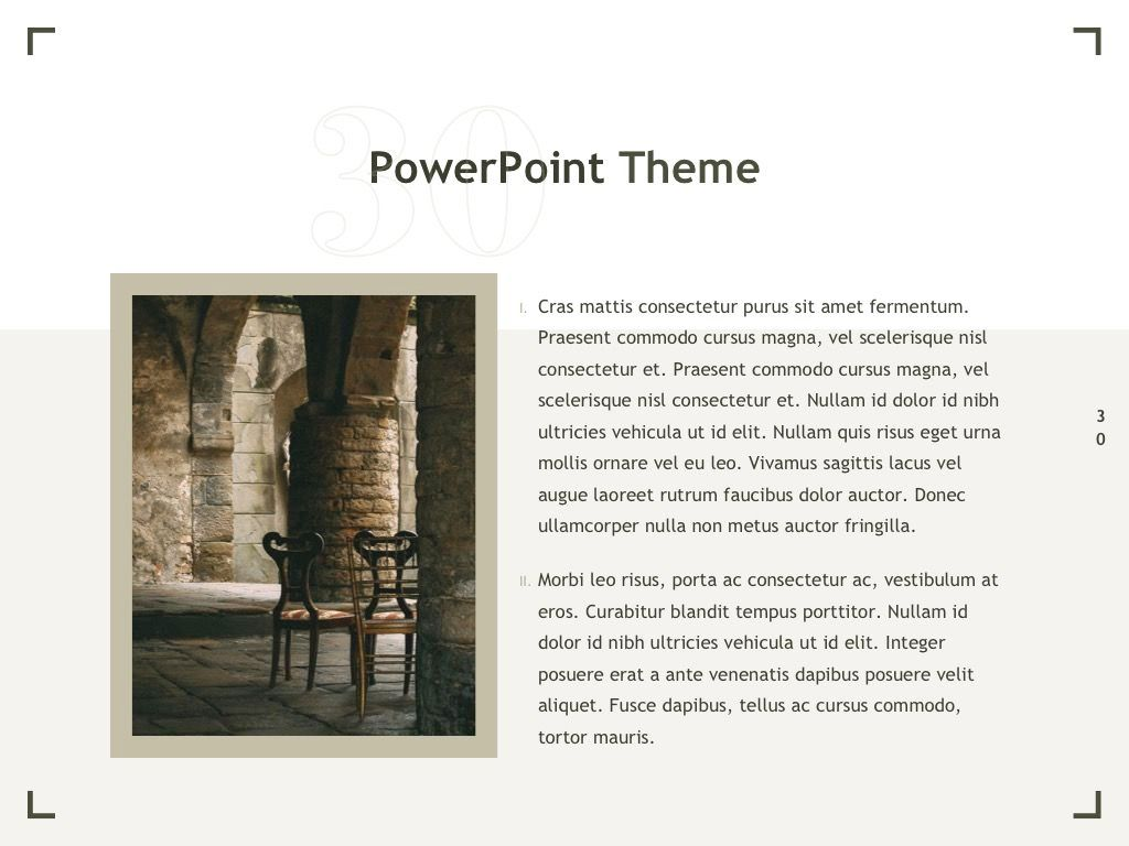 Exhibit PowerPoint Template, Slide 31, 04898, Presentation Templates — PoweredTemplate.com