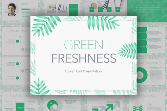 Presentation Templates: Green Freshness PowerPoint Template #04899