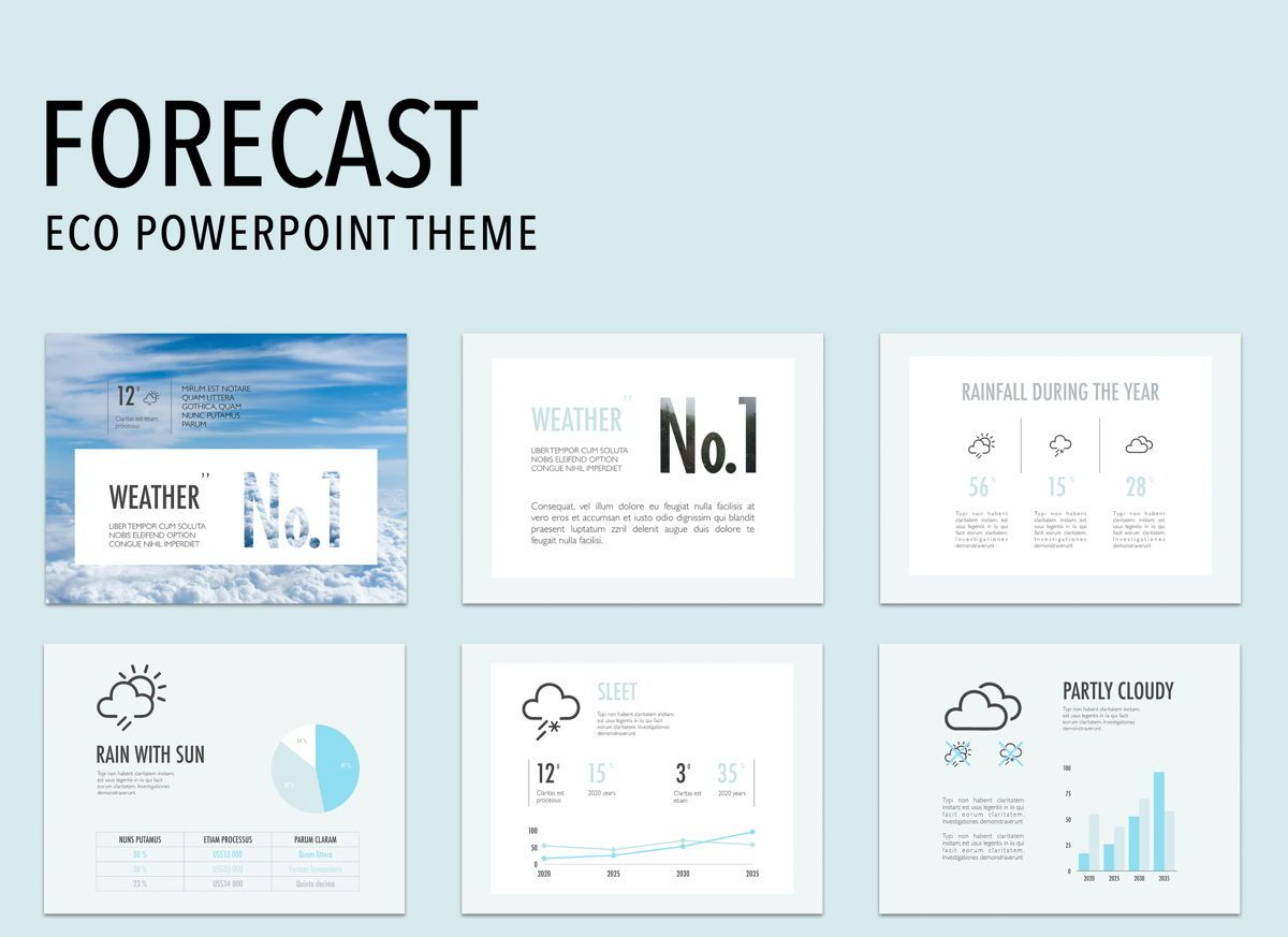 Forecast Powerpoint Presentation Template, 04900, Business Models — PoweredTemplate.com