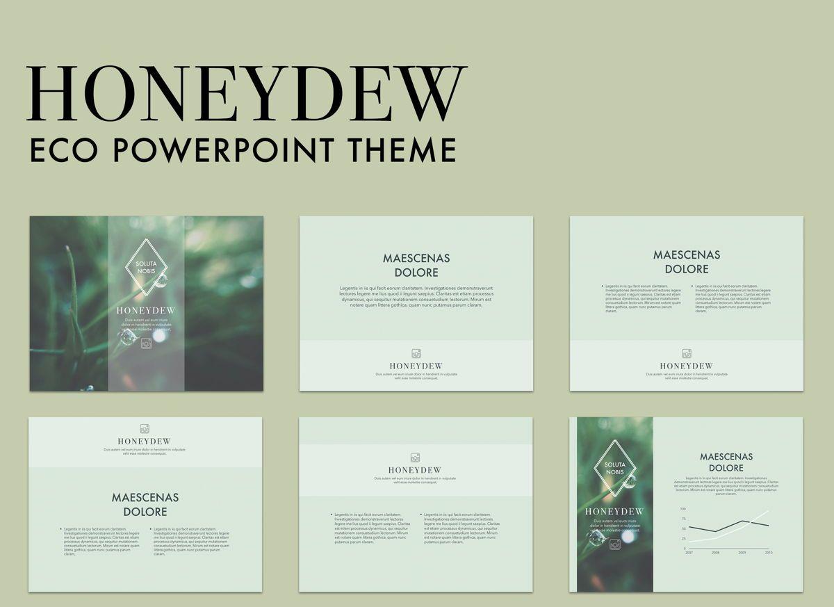 Honeydew Powerpoint Presentation Template, 04902, Business Models — PoweredTemplate.com