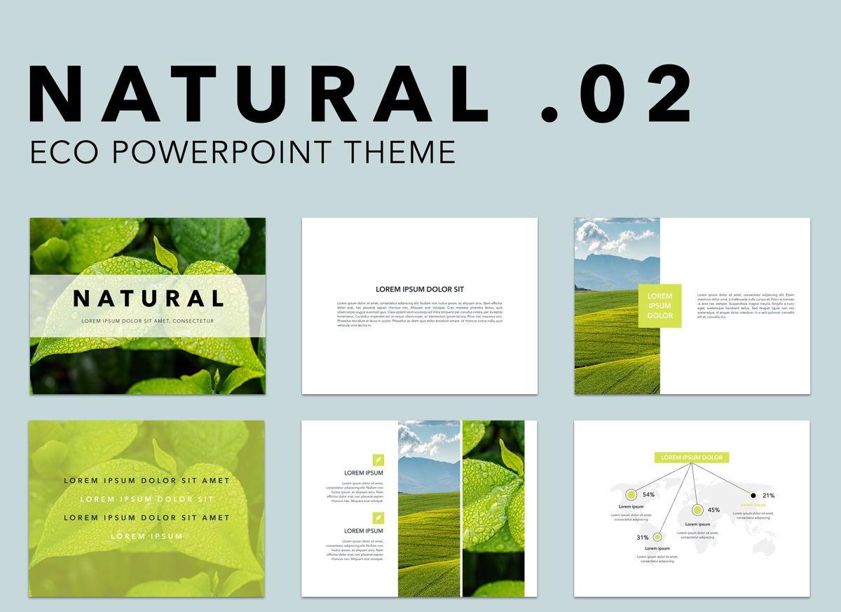 Natural 02 Powerpoint Presentation Template, 04903, Business Models — PoweredTemplate.com