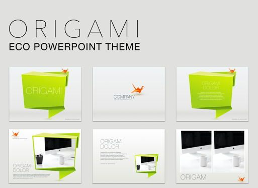 Business Models: Origami Powerpoint Presentation Template #04904