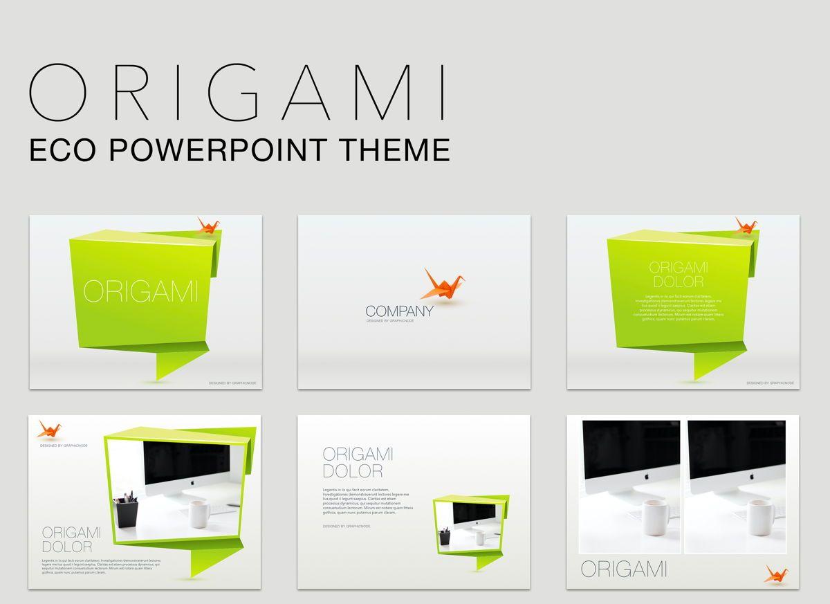 Origami Powerpoint Presentation Template, 04904, Modelos de Negócio — PoweredTemplate.com