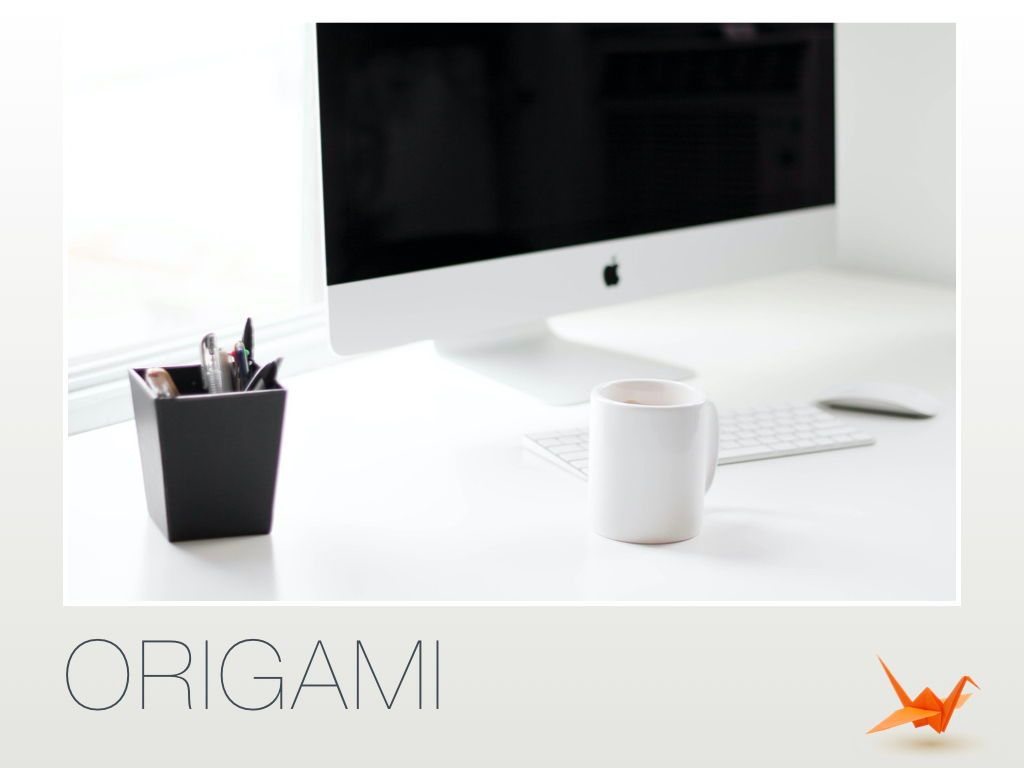 Origami Powerpoint Presentation Template, Slide 4, 04904, Business Models — PoweredTemplate.com