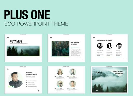 Business Models: Plus One Powerpoint Presentation Template #04905