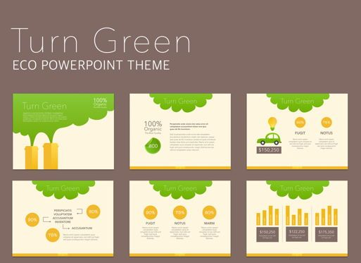 Business Models: Turn Green Powerpoint Presentation Template #04907