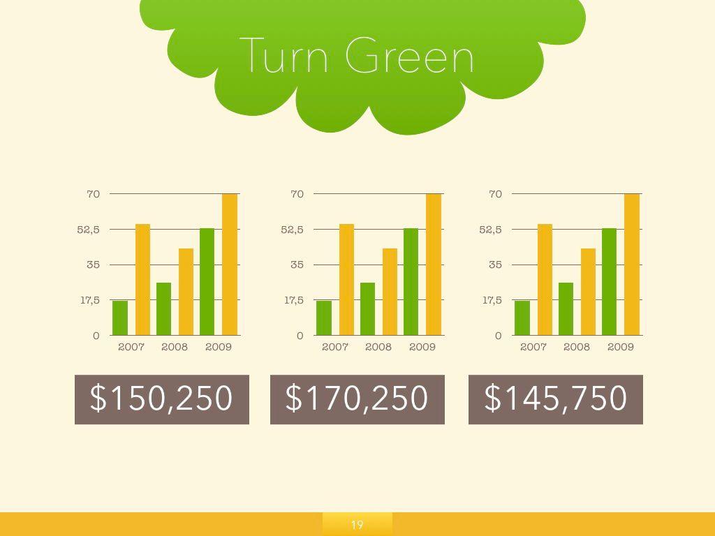 Turn Green Powerpoint Presentation Template, Slide 13, 04907, Business Models — PoweredTemplate.com