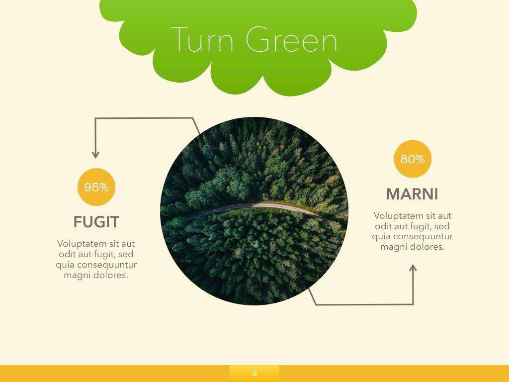 Turn Green Powerpoint Presentation Template, Slide 2, 04907, Business Models — PoweredTemplate.com