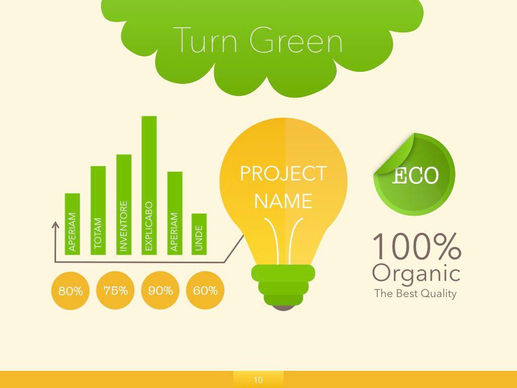Turn Green Powerpoint Presentation Template, Slide 3, 04907, Business Models — PoweredTemplate.com