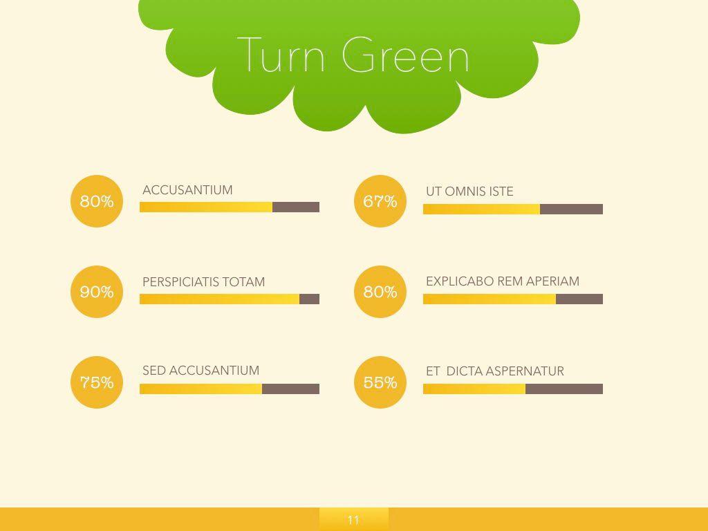 Turn Green Powerpoint Presentation Template, Slide 4, 04907, Business Models — PoweredTemplate.com