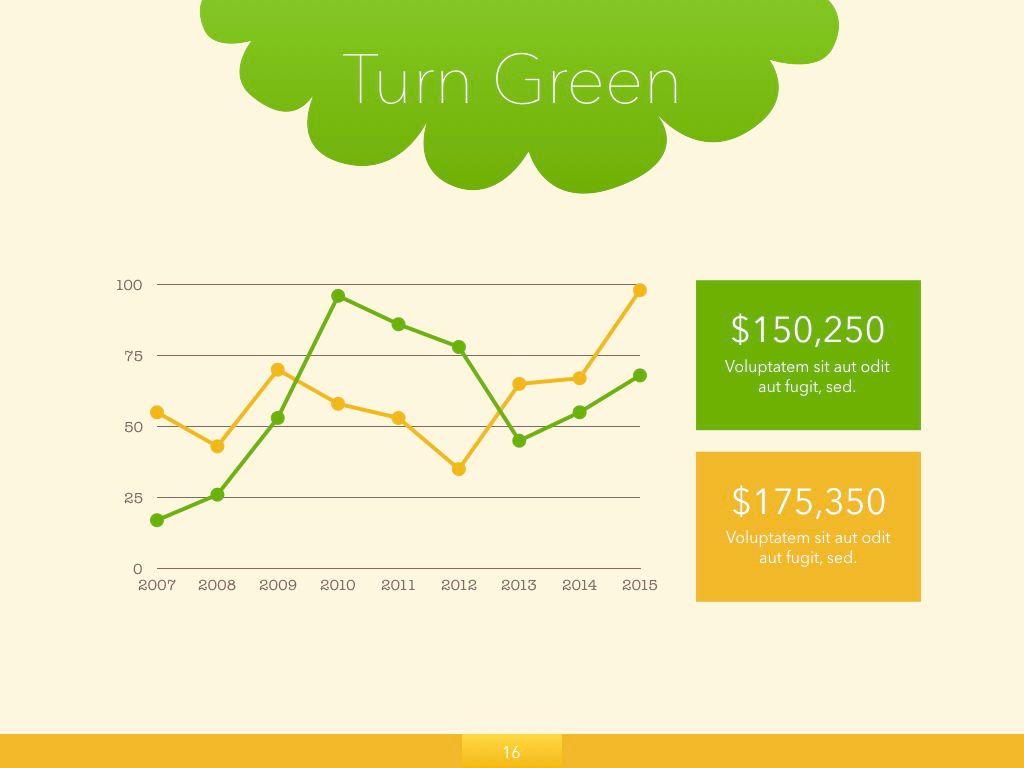 Turn Green Powerpoint Presentation Template, Slide 9, 04907, Business Models — PoweredTemplate.com