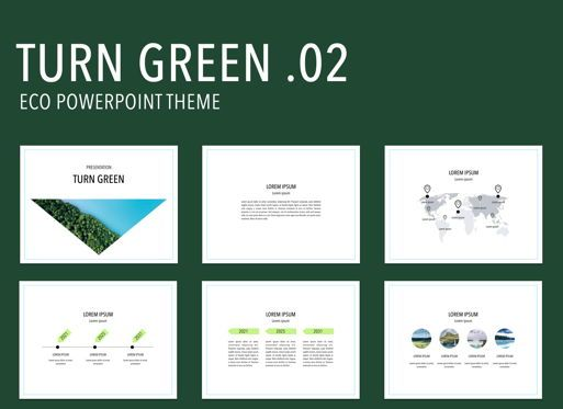 Business Models: Turn Green 02 Powerpoint Presentation Template #04908