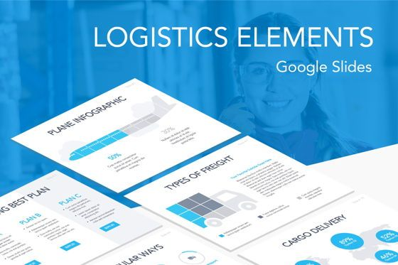 Presentation Templates: Logistics Elements Google Slides Theme Template #04911