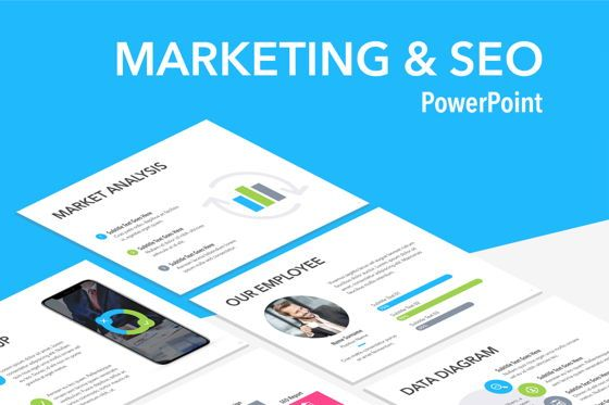 Presentation Templates: Marketing and SEO PowerPoint Template #04912