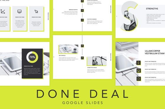 Presentation Templates: Done Deal Google Slides Theme #04913