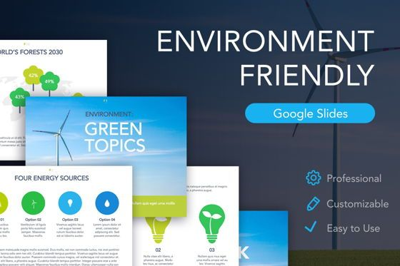 Presentation Templates: Environment Friendly Google Slides Theme #04914