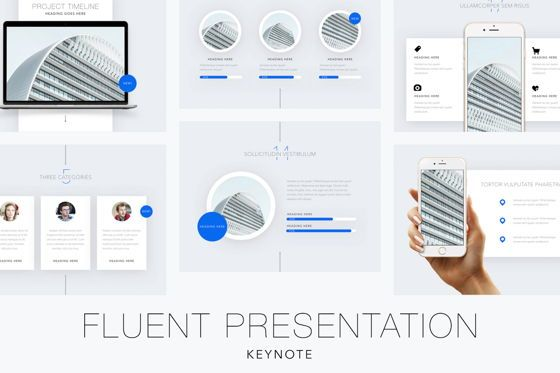 Presentation Templates: Fluent Keynote Template #04915