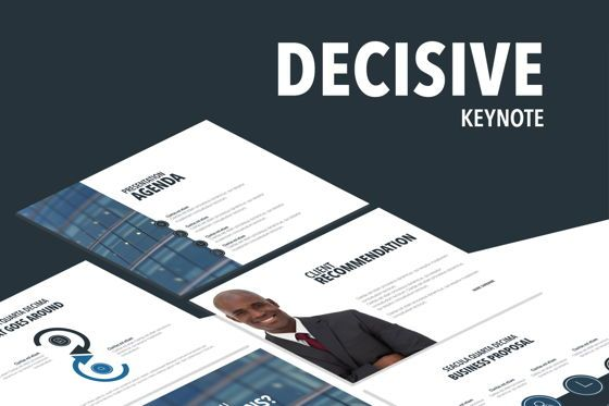 Presentation Templates: Decisive Keynote Template #04916